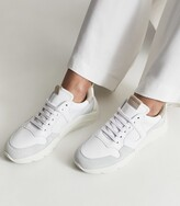 Thumbnail for your product : Reiss Shelton - Leather Trainers in White