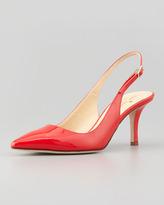 Kate Spade Jilly Slingback Pointed-Toe Pump, Maraschino Red