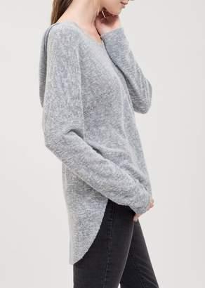 Blu Pepper Hooded V-Neck Pullover Sweater