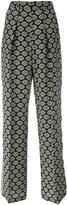 MSGM eyes print straight trousers - women - Silk/Polyester - 42