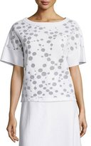 Lafayette 148 New York Short-Sleeve Patterned Knit Top