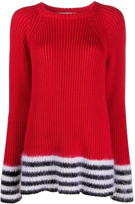 Marni Striped Trim Crew Neck Jumper