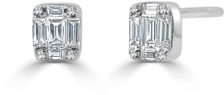 Overstock Diamond Baguette 1/4ct TDW Studs Earrings 14k White Gold by Joelle Collection