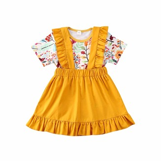 Sunflower Headband Set Infant Toddler Fashion Cotton Clothes for 0-24 Months Ciujoy Baby Girls Outfits 3 Pieces Long Sleeve Romper Floral Trouser