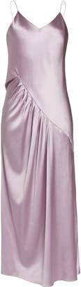 Lake Studio Gathered Silk-Satin Maxi Dress Size: 40
