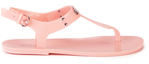 MICHAEL Michael Kors Women's MK Plate Jelly Sandals Pale Pink