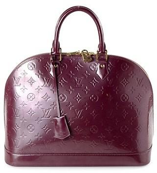 Vintage Louis Vuitton Alma GM Monogram Vernis Leather Top Handle Bag