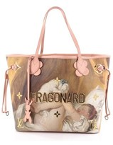 Louis Vuitton Pre-owned: Neverfull Nm Tote Limited Edition Jeff Koons Fragonard Print Canvas Mm.