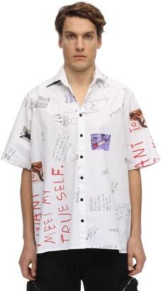 Huge All Over Printed Cotton Shirt
