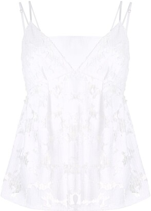 GOEN.J lace embroidered camisole top