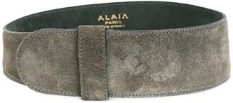 Alaïa Pre Owned Wide Suede Belt