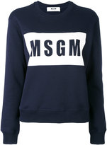 MSGM logo print sweatshirt - women - Cotton - S