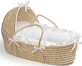 Badger Basket Natural Hooded Moses Basket in White