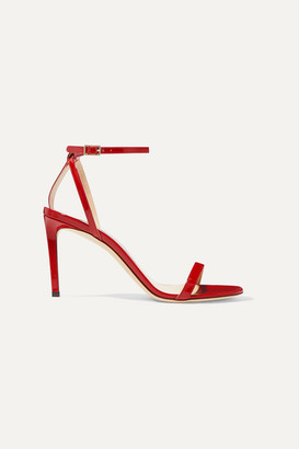 Jimmy Choo Minny 85 Patent-leather Sandals - Red
