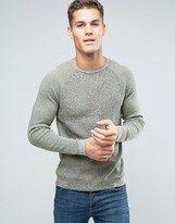 Esprit Knitted Sweater with Contrast Knit Raglan Sleeve