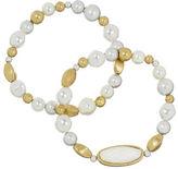 The Sak Faux Pearl Stretch Bracelet Set