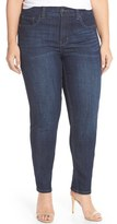 Melissa McCarthy Stretch Straight Leg Jeans (Bonafide) (Plus Size)