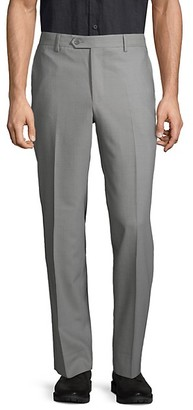 Saks Fifth Avenue Made In Italy Flat-Front Wool Pants