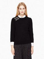 Kate Spade Embellished bow sweater