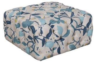 Darby Home Co Dickman Floral Tufted Ottoman Darby Home Co