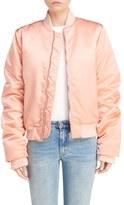 Acne Studios Women's Leia Satin Bomber Jacket