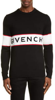 Givenchy Logo Stripe Wool Sweater