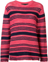 The Elder Statesman striped knitted top - women - Cashmere - S