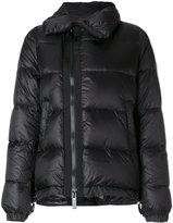 Sacai asymmetric nylon padded jacket - women - Feather Down/Nylon/Polyester - 2