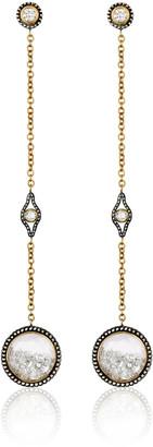 Moritz Glik 18K Gold, Blackened Silver, Diamond And Sapphire Earrings