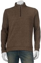 Croft & Barrow Men's Herringbone Quarter-Zip Sweater