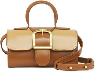 Rylan Mini Satchel Two-Tone Leather Top Handle Bag