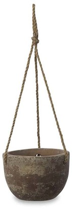 Nkuku Affiti Hanging Clay Planter - Antique Grey - Small