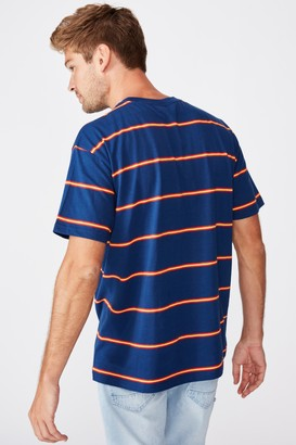 Afl Mens Stripe Logo T-Shirt