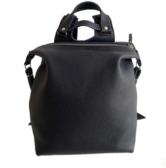 "Kartu Studio Leather Backpack ""Agave"" - Dark Blue"
