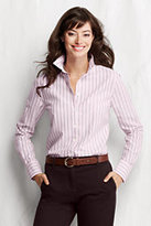 Classic Women's Petite Long Sleeve Supima Washed Oxford Shirt-Oyster Tan