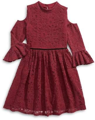 Blush Lingerie Girl's Cold Shoulder Lace Dress