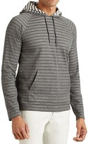 John Varvatos Striped Pullover Hoodie Sweatshirt