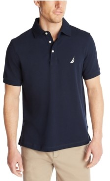 Nautica Men's Classic-Fit Stretch Pique Polo Shirt