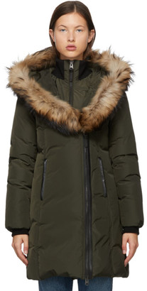 Mackage Khaki Down and Fur Classic Kay Parka