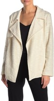 Daniel Rainn Dr2 By Drape Front Textured Knit Trench Jacket
