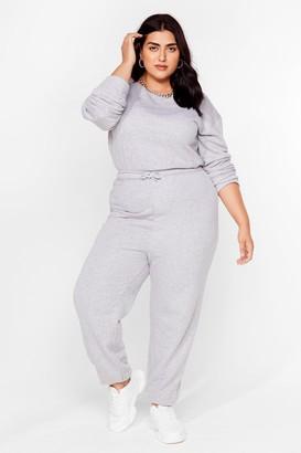 Nasty Gal Womens Keep It Casual Plus Lounge Jumpsuit - Grey - 28