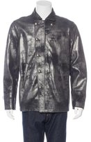 John Varvatos Metallic Leather Jacket w/ Tags