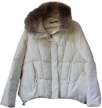 Berenice Ecru Leather Jacket for Women