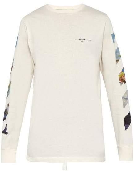 Off-White Off White Arrow Print Cotton T Shirt - Mens - White