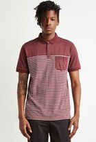 Forever 21 Striped Colorblock Polo