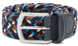 Andersons Woven Elasticated Belt - Blue Multi