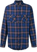 Les (Art)ists raw hem plaid shirt - men - Cotton - S