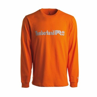 Timberland Men's Base Plate Long Sleeve T-Shirt with Chest Logo