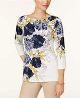 Charter Club Boat-Neck Top, Created for Macy's