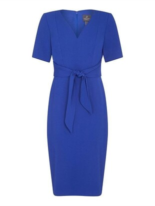 Adrianna Papell Knit Crepe Tie Sheath Dress